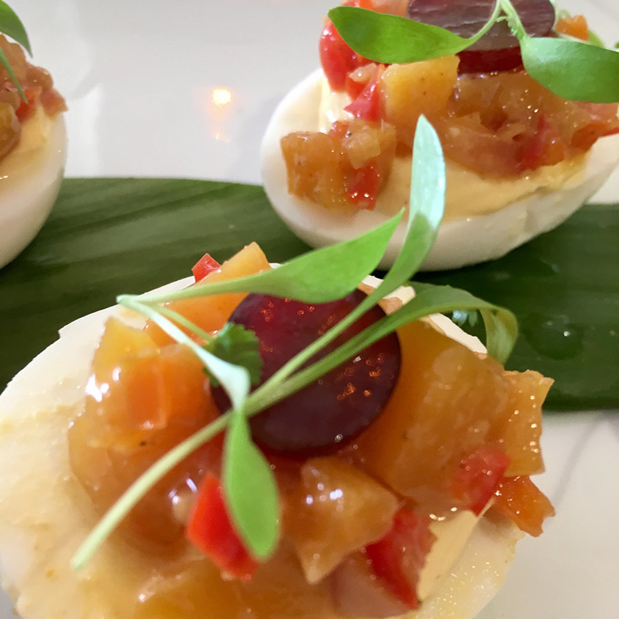 Curry Whipped Deviled Egg